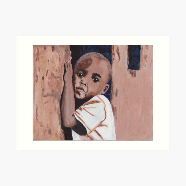 Little Ugandan Boy Acrylic Art Art Print