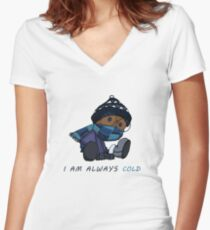 I Am Always Cold Women's Fitted V-Neck T-Shirt