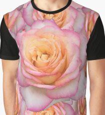 PINK FLORAL BLUME BETT VON PINK ROSES Grafik T-Shirt