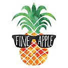 FINEapple - funny Pineapple pun, funny T Shirt, mug, pillow, beach, Pineapple Gift, Fine, Apple, Pun, Summer, Vacation, vacay, chill, gift by hitechmom