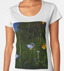 Water Forget-me-not (Myosotis scorpioides) Women's Premium T-Shirt