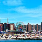 Coney Island Beach - In Front of the Wonder Wheel by bpcreate