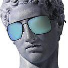 «Busto griego Blue Vaporwave Estético» de heathaze