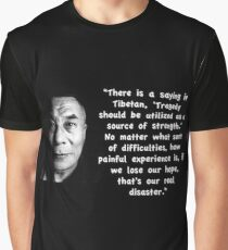 Dalai Lama Strength & Hope Quote Graphic T-Shirt