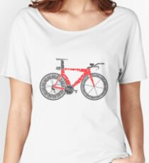 Anatomy of a Time Trial Bike Women's Relaxed Fit T-Shirt