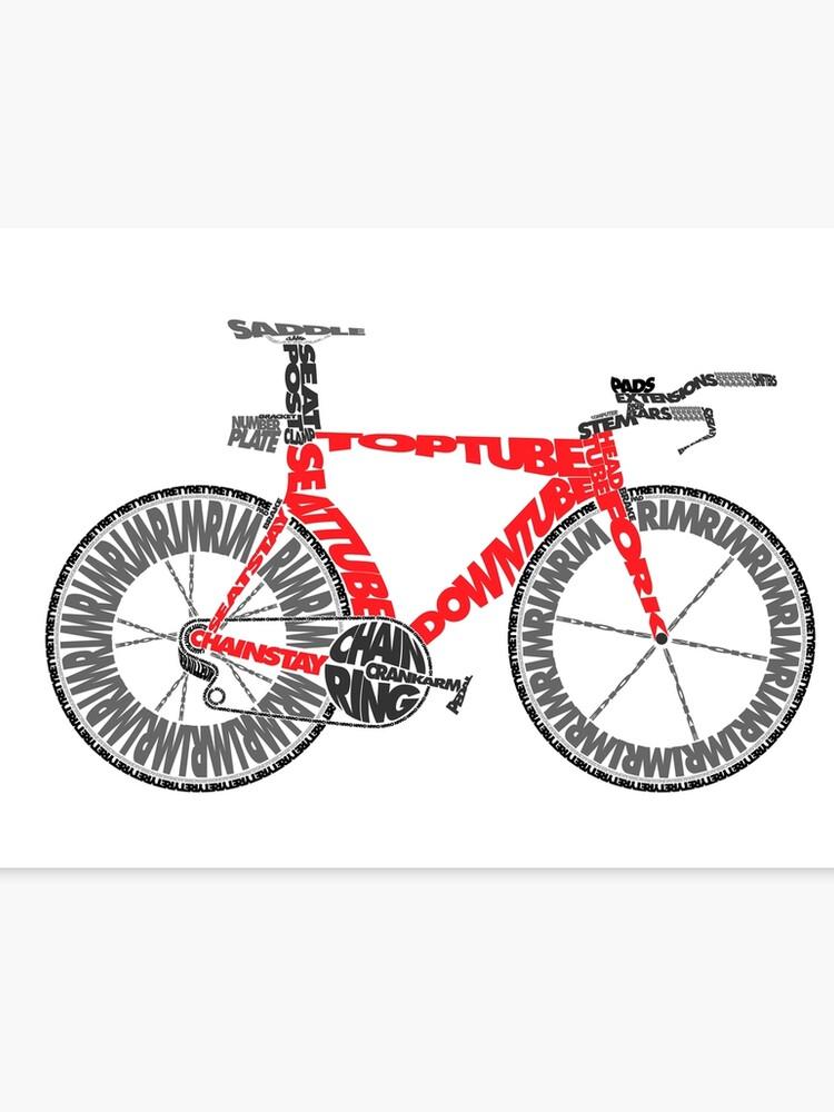 Anatomy of a Time Trial Bike | Canvas Print