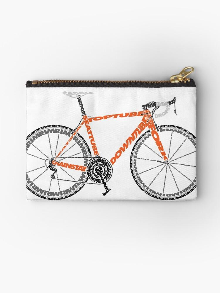 Typographic Anatomy Of A Road Bike Studio Pouches By Jarodface
