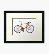 Typographic Anatomy of a Road Bike Framed Print