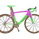 Typographic Anatomy of a Cyclocross Bike by jarodface