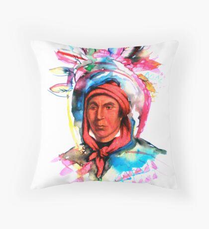 Native American Headdress Throw Pillow