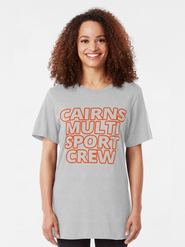 Alternate view of Cairns MultiSport Crew - merch/swag/gear Slim Fit T-Shirt