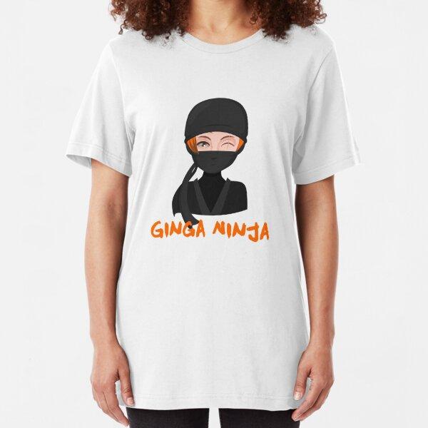 Ginga Ninja Ginger AF Redhead Funny Novelty Gingers Rule Slim Fit T-Shirt