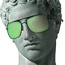 «Griego busto verde Vaporwave estético» de heathaze