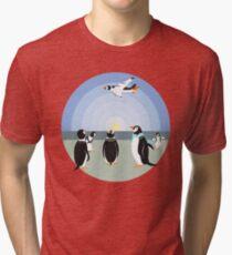 Penguin past or future Tri-blend T-Shirt