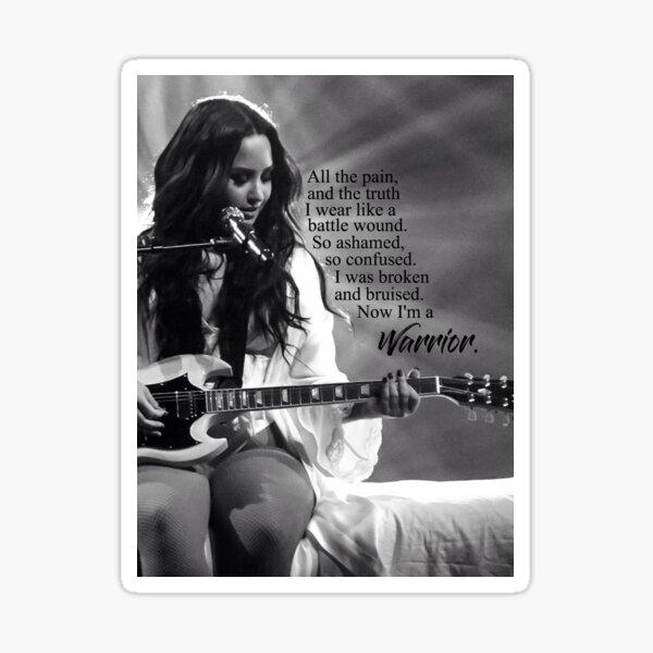 """Demi Lovato """"Guerrier"""" Sticker"""