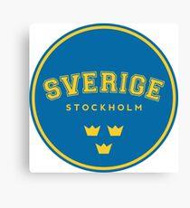 Sverige, Stockholm, Sweden, text, Sweden t shirt Canvas Print