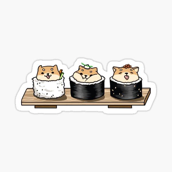 Sushiba (Shiba Sushi) Sticker