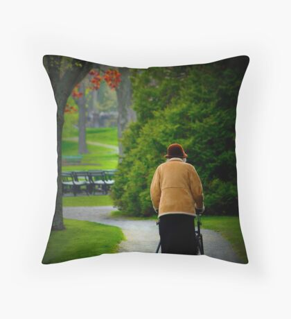 The Afternoon Stroll Throw Pillow