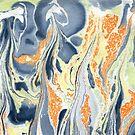 Erupting Lava #marbled #art #decor #redbubble by Menega  Sabidussi