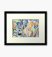 Erupting Lava #marbled #art #decor #redbubble Framed Print