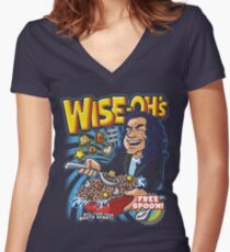 Wise-Oh's Women's Fitted V-Neck T-Shirt