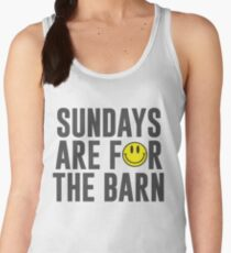 Sundays Are For The Barn with Smiley Face Women's Tank Top