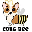 CorgBEE Cute Corgi Bee design for dog lovers - summer, spring, yellow, animal lover by hitechmom