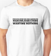 Sylvia Plath quote - desire Unisex T-Shirt