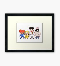 BTS x BT21 (vocal line) Framed Print
