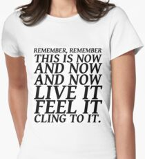 Sylvia Plath quote - be here now Women's Fitted T-Shirt