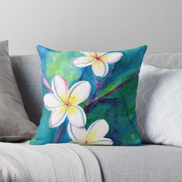 Frangipani Throw Pillow