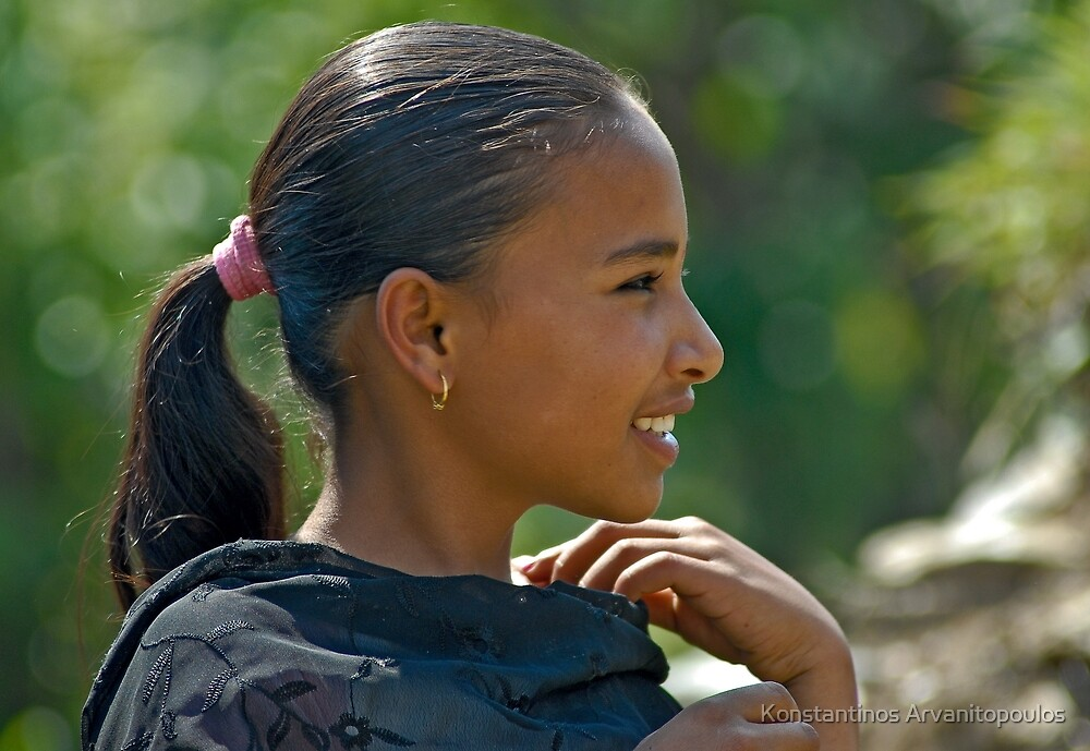 Nepali girl (II) by Konstantinos Arvanitopoulos