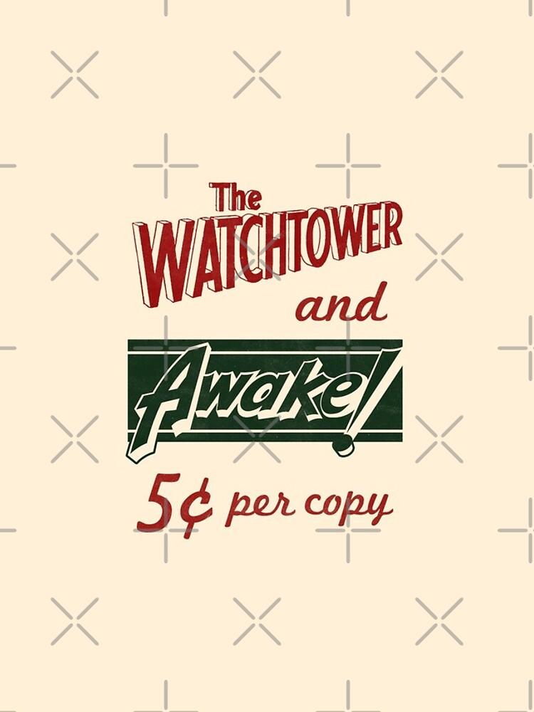 WATCHTOWER & AWAKE! VINTAGE MESSENGER BAG by JenielsonDesign