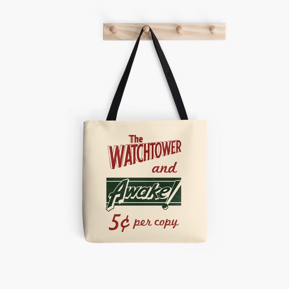 WATCHTOWER & AWAKE! VINTAGE MESSENGER BAG Tote Bag