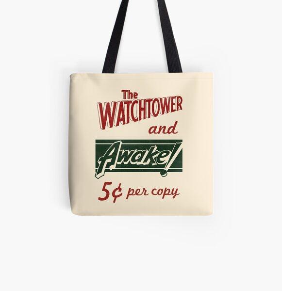 WATCHTOWER & AWAKE! VINTAGE MESSENGER BAG All Over Print Tote Bag