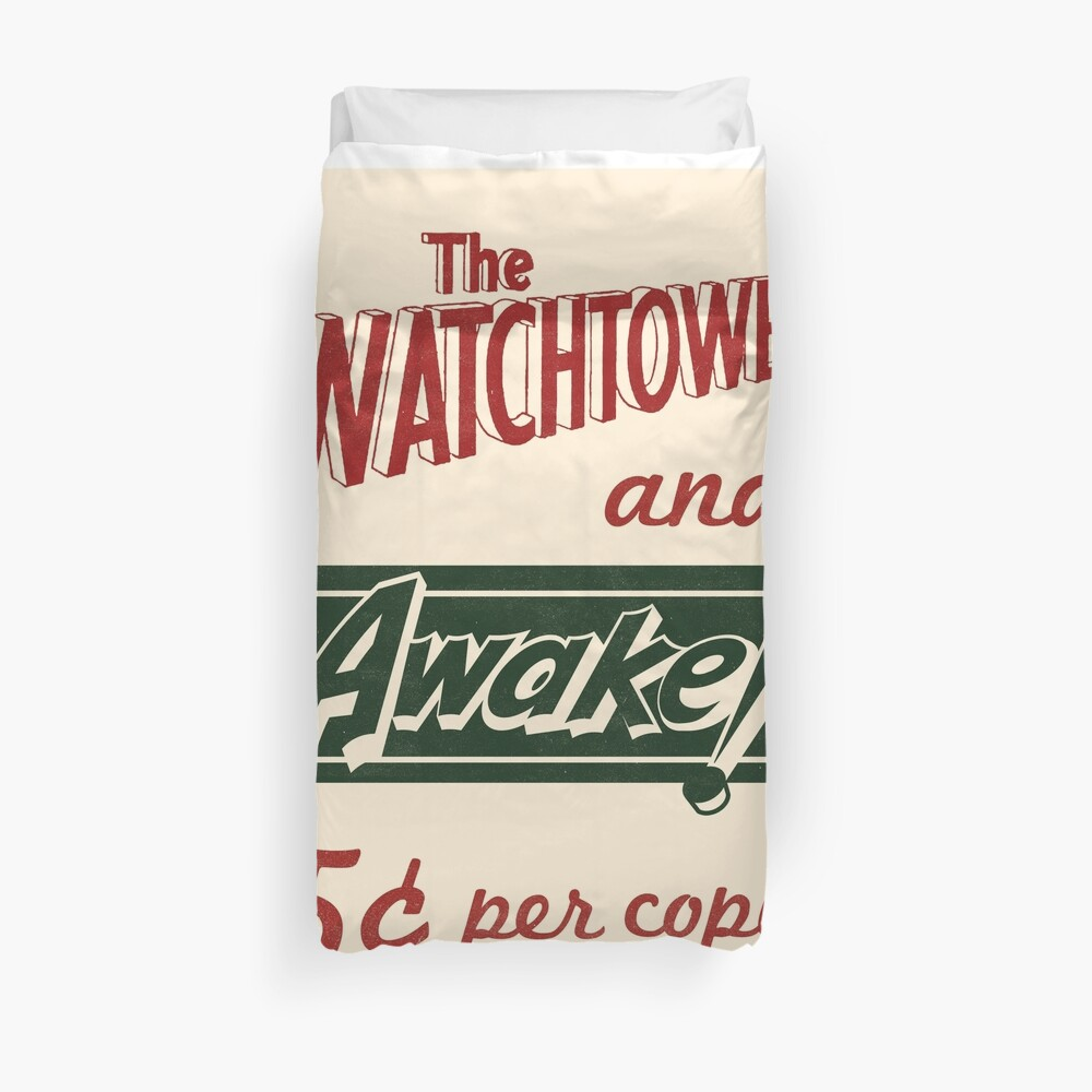 WATCHTOWER & AWAKE! VINTAGE MESSENGER BAG Duvet Cover