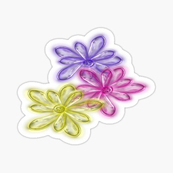 Three Glassy Daisy Design from Green Bee Mee  Sticker