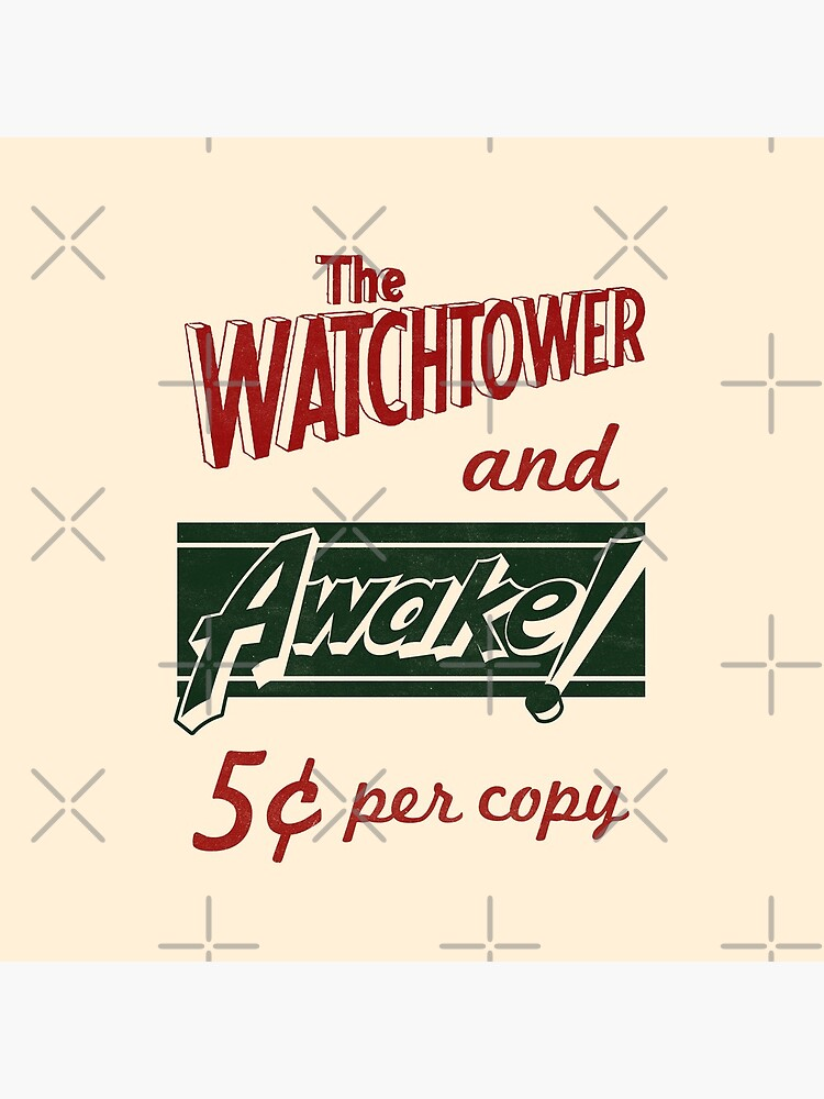 WATCHTOWER & AWAKE! VINTAGE MESSENGER BAG by JenielsonDesign
