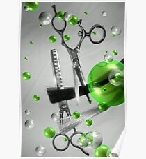 Shear Texture Lime Poster