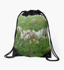 White Clovers Drawstring Bag