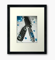 Brush away the Blues Framed Print