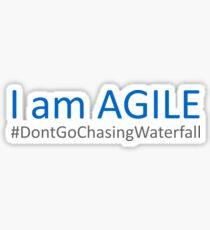 Agile vs Waterfall Development Sticker