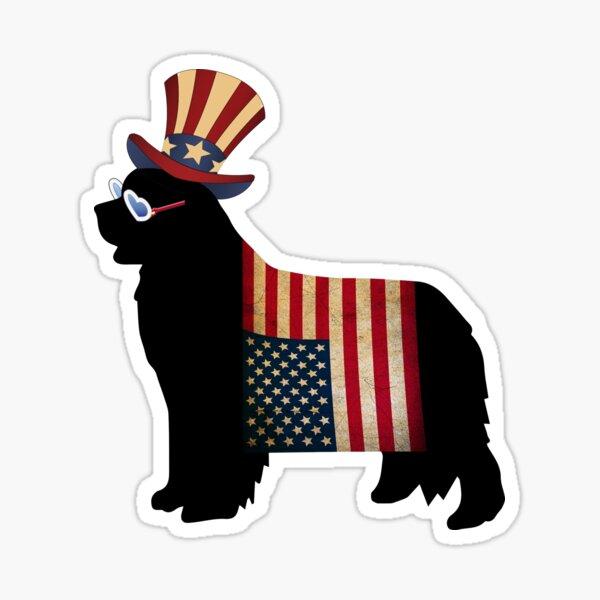 Celebrate Freedom - with a Newfie! Sticker