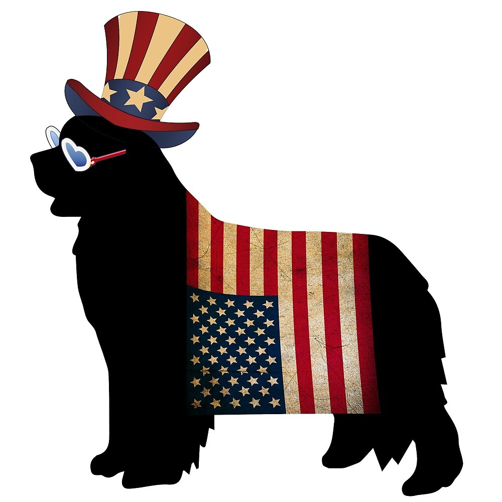 Celebrate Freedom - with a Newfie! by Christine Mullis