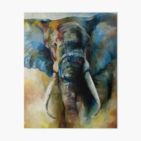 The Elephant Art Board Print