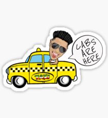 CABS HERE Sticker