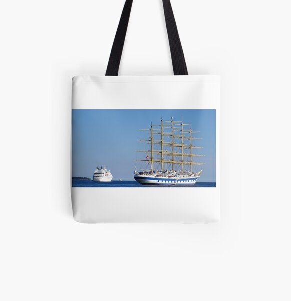 Old vs new ships royal clipper All Over Print Tote Bag