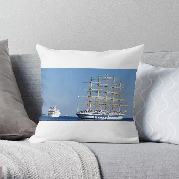 Old vs new ships royal clipper Throw Pillow