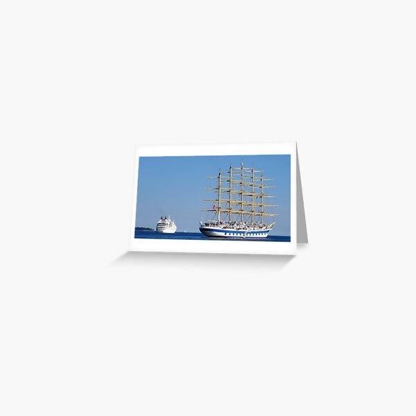 Old vs new ships royal clipper Greeting Card