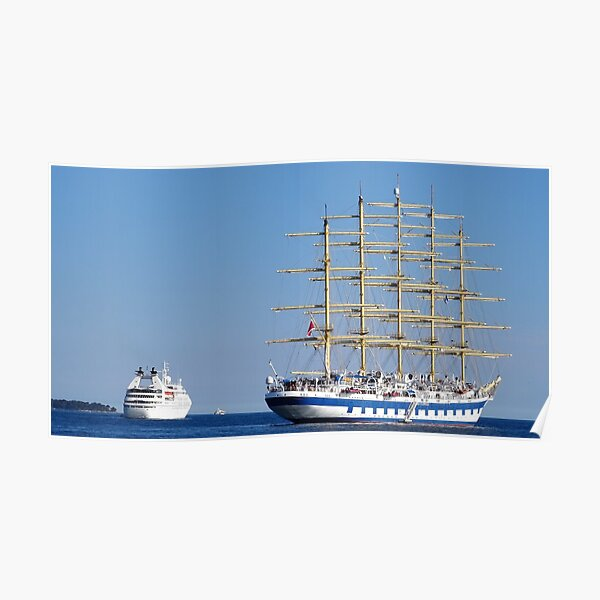 Old vs new ships royal clipper Poster